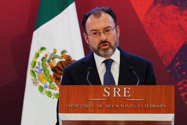 Ο νέος υπουργός Εξωτερικών του Μεξικού Λουίς Βιντεγκαράι (Φωτό Reuters)