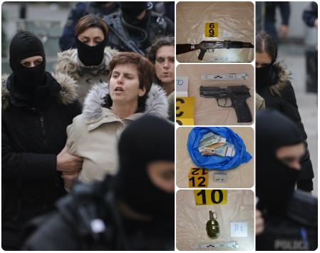 Πόλα Ρούπα: Καλάσνικοφ, πιστόλια και μετρητά στο `κρησφύγετο` της Ηλιούπολης