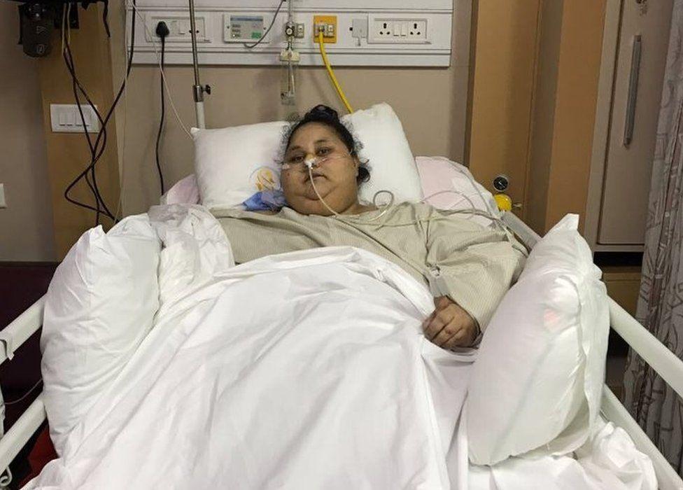Η γυναίκα μετά την εγχείρηση / Φωτογραφία από bbc.co.uk
