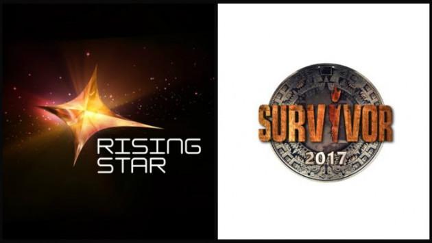 Χάος στην τηλεθέαση μεταξύ Survivor και Rising Star!