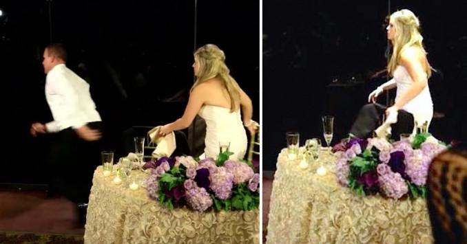 Κατά τη διάρκεια του γάμου τους, ο γαμπρός σηκώθηκε και άρχισε να τρέχει! Πάνω στην ώρα!