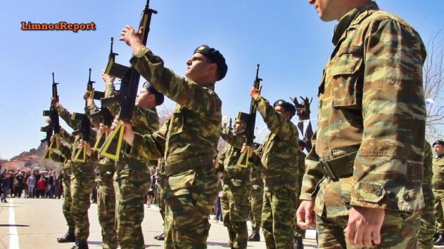 25η Μαρτίου: Εντυπωσιακή επίδειξη οπλοασκήσεων στην παρέλαση της Λήμνου [vids]