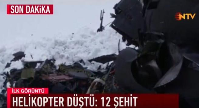 Συγκλονιστικές οι εικόνες από το ελικόπτερο που συνετρίβη στην Τουρκία – Νεκροί και οι 12 επιβαίνοντες