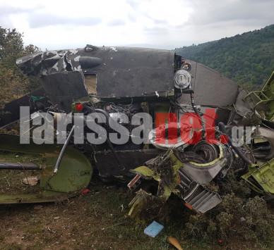 Εικόνα ντοκουμέντο: Άμορφη μάζα το στρατιωτικό ελικόπτερο που συνετρίβη στην Κοζάνη - Εκτός της ατράκτου βρέθηκαν 3 από τους 5 επιβαίνοντες