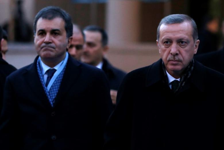 Ο. Τσελικ - Τ. Ερντογαν - Reuters