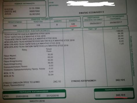 Χαλκιδική: Άνοιξε το λογαριασμό του νερού και προσπαθούσε να πιστέψει στα μάτια του [pics]