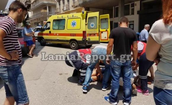 Σοβαρός τραυματισμός ντελιβερά στη Λαμία [pics]