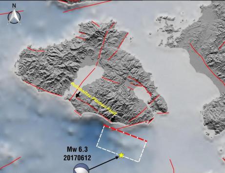 Σεισμός στη Λέσβο: Αυτή είναι η απεικόνιση του ρήγματος [pic]