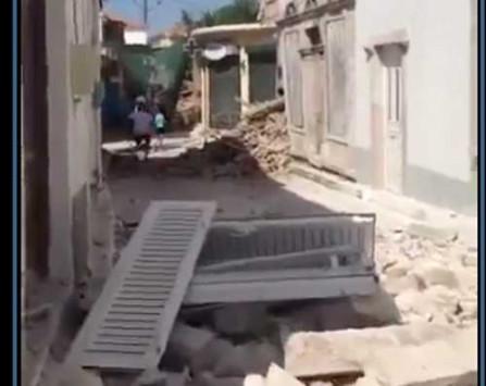 Σεισμός - Μυτιλήνη: Εικόνες καταστροφής σε χωριό κοντά στο Πλωμάρι [vid]