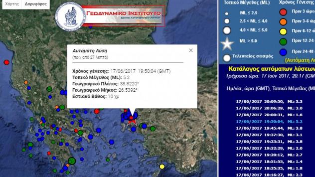 Σεισμός - Μυτιλήνη: Νέα δόνηση 5,2 Ρίχτερ - Ανακούφιση ή ανησυχία;