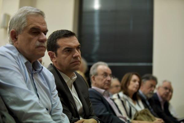 Αλέξης Τσίπρας και Νίκος Τόσκας / Φωτογραφία: Eurokinissi
