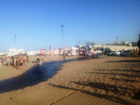 Ηράκλειο: Γέμισε λύματα η παραλία! Έτρεχαν πανικόβλητοι οι λουόμενοι [pics, vid]