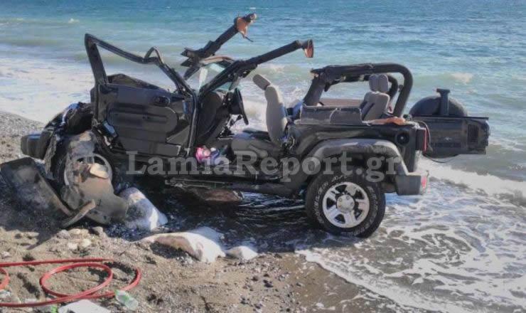 Το αυτοκίνητο μετά το δυστύχημα - ΦΩΤΟ από το LamiaReport