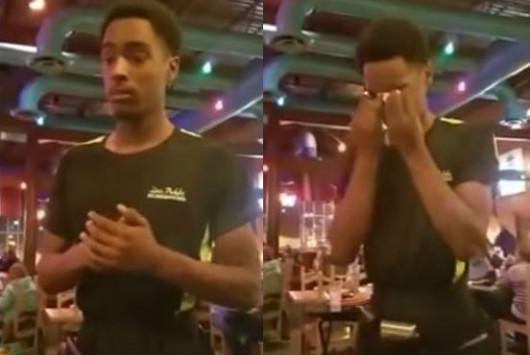 Δίνει φιλοδώρημα στον σερβιτόρο 300 δολάρια επειδή κατάλαβε ότι περνούσε μια δύσκολη μέρα!