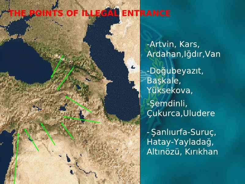 Σημεία εισόδου στο τουρκικό έδαφος