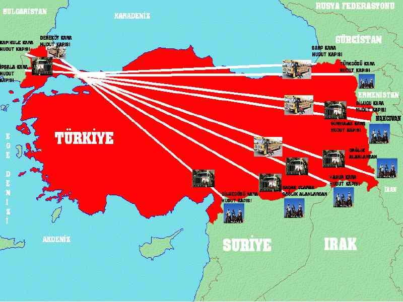 Πύλες εισόδου και εξόδου λαθρομεταναστών στην Τουρκία