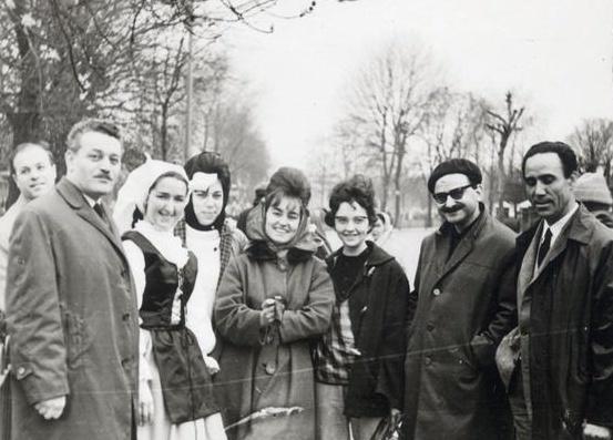 1963: Πορεία Ειρήνης στο Λονδίνο, Ο Λ. Κύρκος με τον Γ. Λαμπράκη και τον Μ. Γλέζο