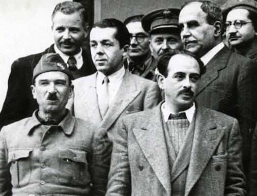 1945: Με τους πρωταγωνιστές της Συμφωνίας της Βάρκιζας, Σιάντο και Τσιριμώκο