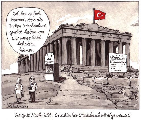 Το προκλητικό  σκίτσο της γερμανικής εφημερίδα