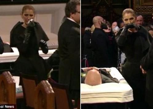 Θρηνεί η Celine Dion! Βουρκωμένη και εξαντλημένη στο τελευταίο αντίο του René Angélil