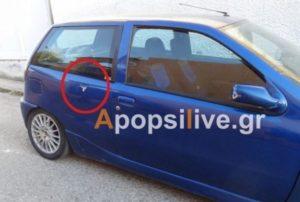 Κρήτη: Αδέσποτη σφαίρα χτύπησε αυτό το αυτοκίνητο – Σε κατάσταση σοκ οδηγός και συνοδηγός [pics]