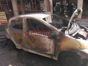 Πάτρα: Τσακώθηκε με συγγενή του και έκαψε τρία αυτοκίνητα! [pics, vid]