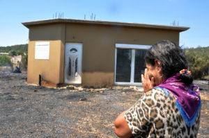Πάτρα: Φωτιά κοντά στον καταυλισμό Ρομά στον Ρηγανόκαμπο