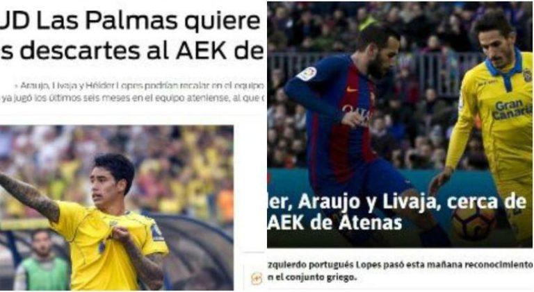 Τα ισπανικά ΜΜΕ «στέλνουν» στην ΑΕΚ Αραούχο – Λιβάγια | Newsit.gr