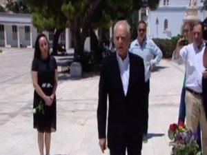 Άκης Τσοχατζόπουλος – Βίκυ Σταμάτη στο μνημόσυνο του Ανδρέα Παπανδρέου [vid]