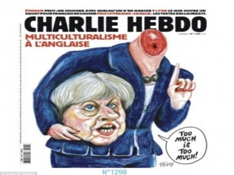 Αγγλικές εκλογές: Το Charlie Hebdo «αποκεφαλίζει» την Τερέζα Μέι! [pics] | Newsit.gr