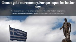 Politico και Handelsblatt πανηγυρίζουν για την Ελλάδα