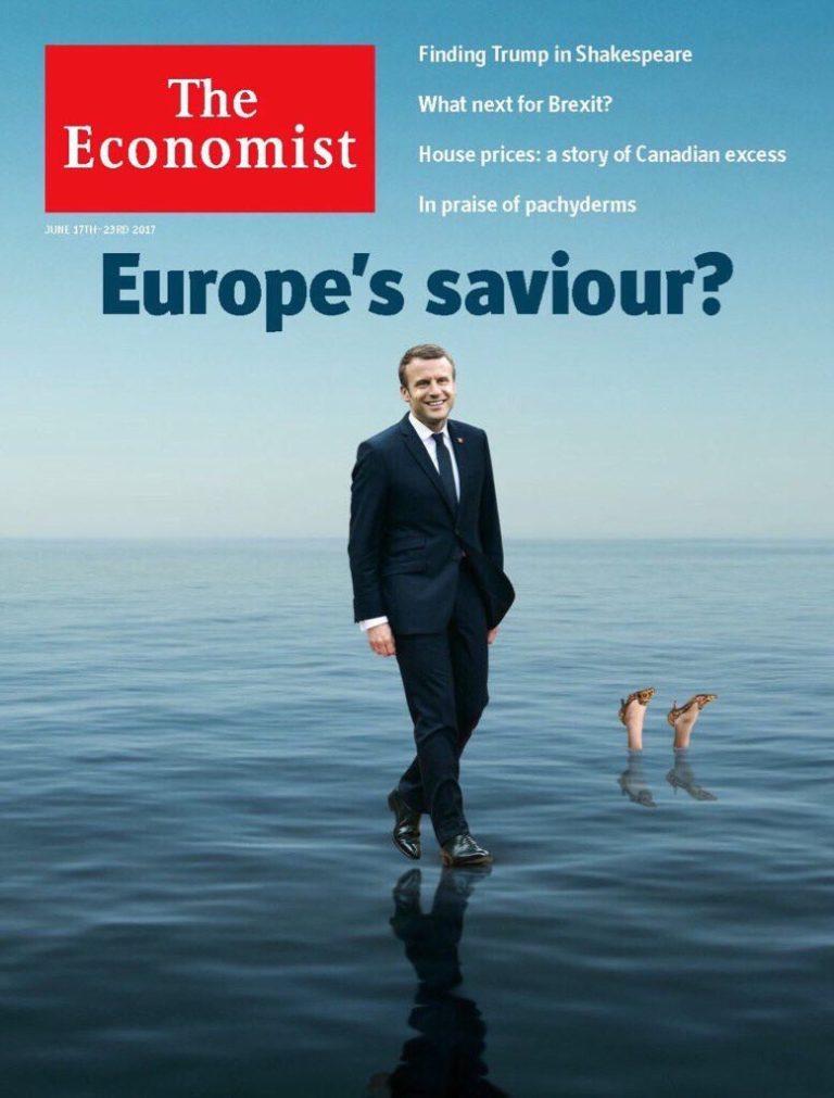 Πρωτοσέλιδο όλα τα λεφτά από τον Economist: Σωτήρας της Ευρώπης ο Μακρόν – Πνιγμένη η Μέι | Newsit.gr