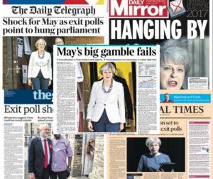 Αγγλία – Εκλογές: Στα… μανταλάκια η Μέι! Τα βρετανικά πρωτοσέλιδα [pics]