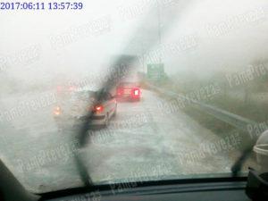 Γιάννενα: Σφοδρή χαλαζόπτωση – Σταμάτησαν αυτοκίνητα στην Εγνατία Οδό [pic, vid]