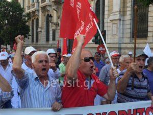 Κλειστό το Σύνταγμα – Συγκέντρωση και πορεία των συνταξιούχων