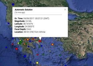 Σεισμός ανοιχτά του Μαραθώνα – Ταρακουνήθηκε η Αττική