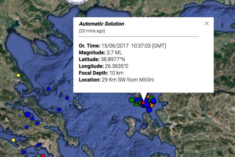 Σεισμός στη Μυτιλήνη: Αναθεωρήθηκε στα 3,7 Ρίχτερ   Newsit.gr