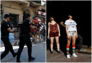 Αδιανόητο! Πλαστικές σφαίρες στο Gay Pride της Κωνσταντινούπολης! [pics]