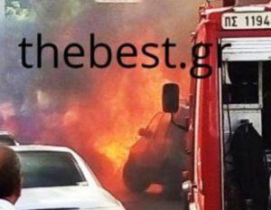 Πάτρα: Έπαθε σοκ όταν έμαθε ποιος έβαλε φωτιά στο αυτοκίνητό της [pics, vid]