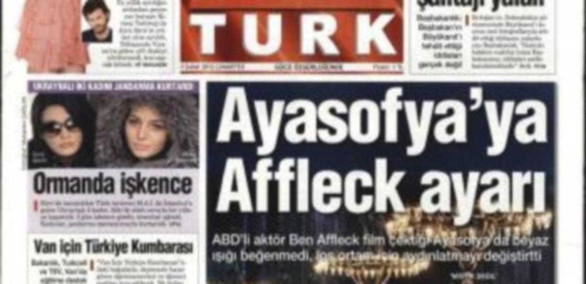 Τουρκικός Τύπος: «Αλλαγές στην Αγία Σοφία λόγω του Μπεν Άφλεκ» | Newsit.gr