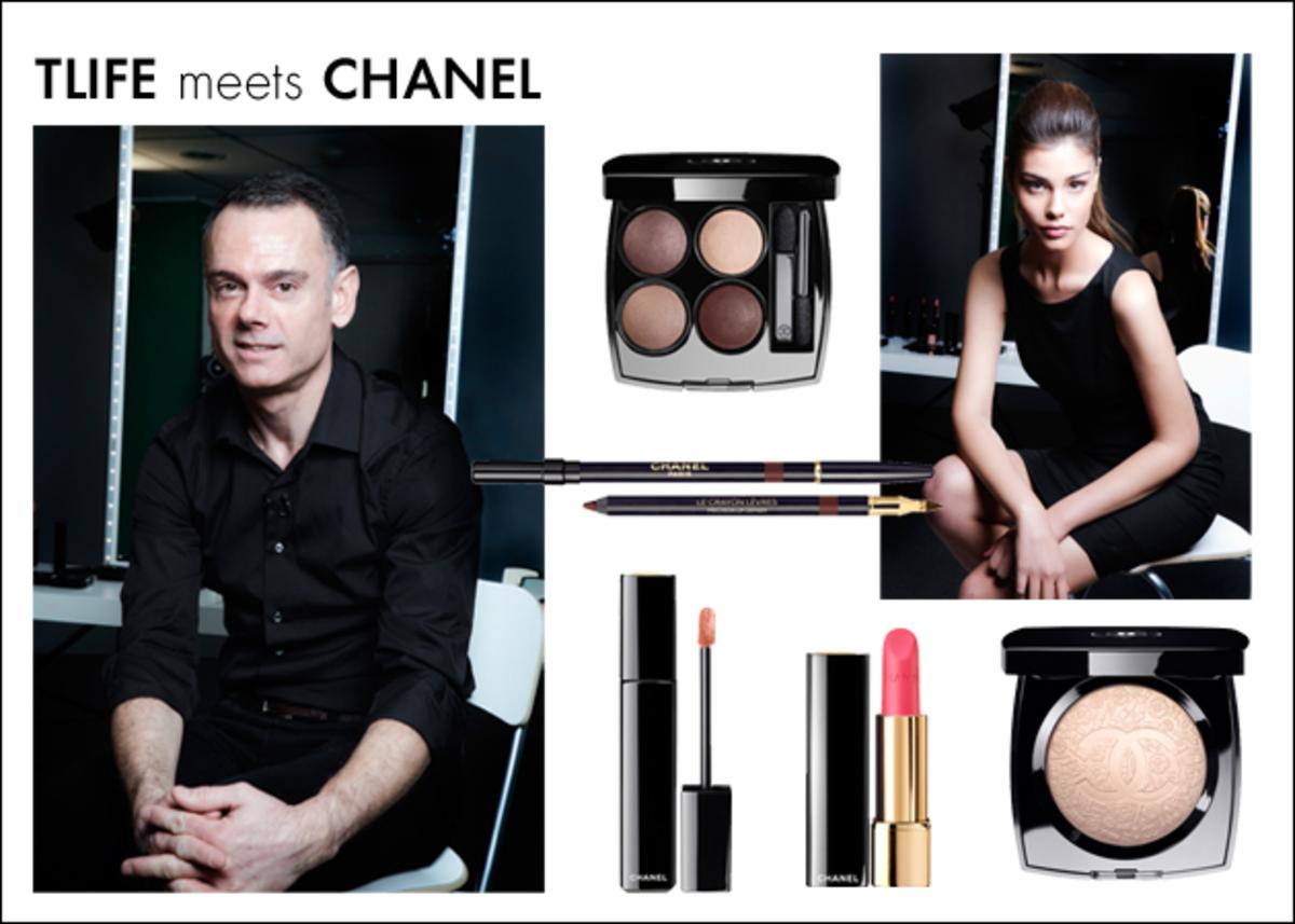 Ήρθε από το Παρίσι μόνο για το TLIFE! Δες το γύρισμα που έκανε για 'σένα ο make up artist της Chanel! | Newsit.gr