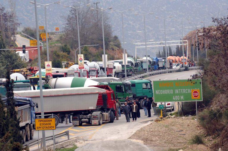 Τρίπολη: Κυκλοφοριακό χάος από πορεία φορτηγατζήδων   Newsit.gr