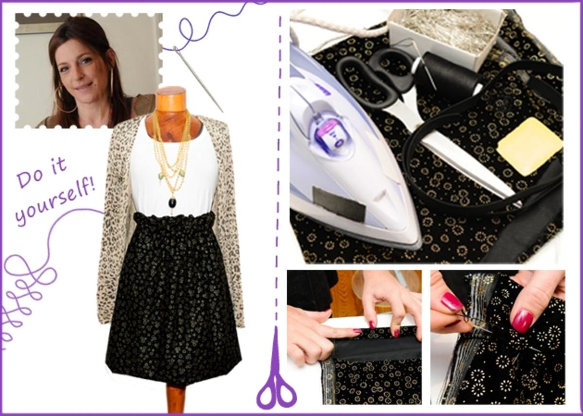 ΚΑΝ'ΤΟ ΜΟΝΗ ΣΟΥ! Η Πόπη Αναστούλη σου δείχνει πως να φτιάξεις μία φούστα από βελούδο!   Newsit.gr