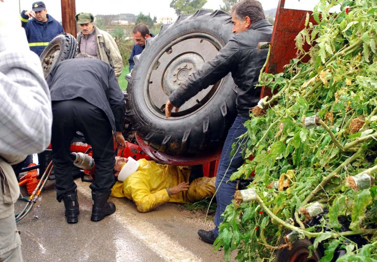 Αργολίδα:Τρακτέρ ανετράπη και πλάκωσε τον οδηγό του   Newsit.gr