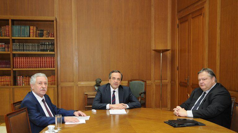 Χωριστές συναντήσεις Σαμαρά με Βενιζέλο και Κουβέλη | Newsit.gr