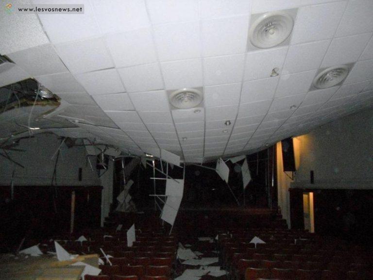 Καιρός: Κατέρρευσε η στέγη του θεάτρου Αγιάσου – Εικόνες βομβαρδισμένου τοπίου [pics]   Newsit.gr