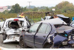 Θεσσαλονίκη: Καραμπόλα 16 αυτοκινήτων – Κυκλοφοριακό χάος στην περιφερειακή και ζημιές σε περιπολικό!