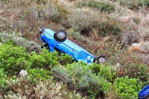 Λευκάδα: Τύχη βουνό για γυναίκα οδηγό – Το αυτοκίνητό της έπεσε σε γκρεμό 80 μέτρων!