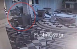 Χανιά: Αυτό είναι το βίντεο ντοκουμέντο της κλοπής σε καθολική εκκλησία – Οι κινήσεις του δράστη [vid]