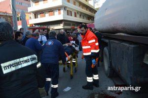 Χίος: Βυτιοφόρο παρέσυρε πεζό στο λιμάνι – Αγωνία για τον τραυματία [pic]